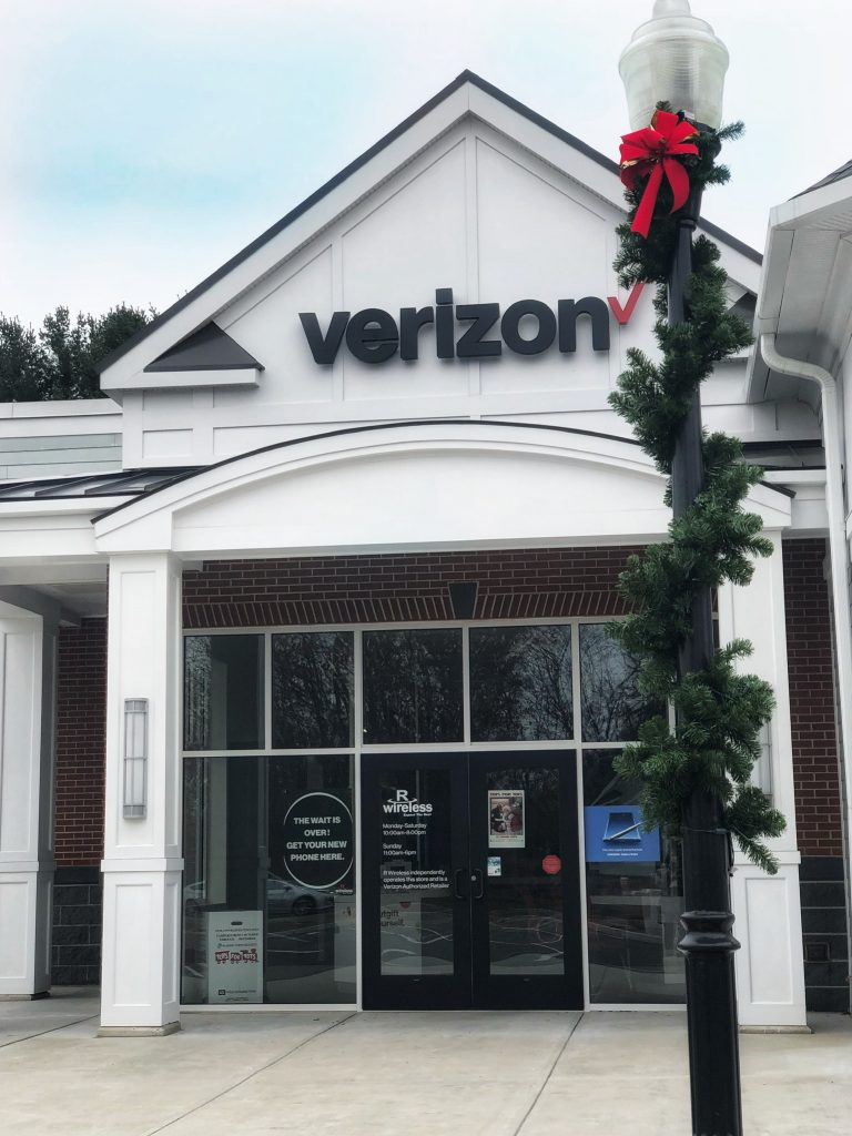Verizon decorated for Christmas